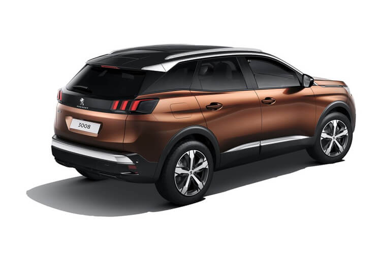 Peugeot 3008 SUV 1.5 BlueHDi 130PS Allure 5Dr EAT8 [Start Stop] back view