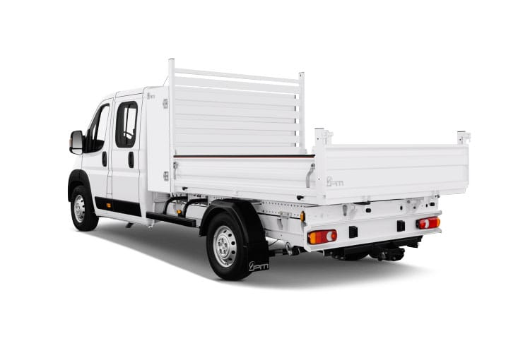 Peugeot Boxer 335 L3 2.2 BlueHDi FWD 140PS Built for Business Plus Tipper Double Cab Manual [Start Stop] back view
